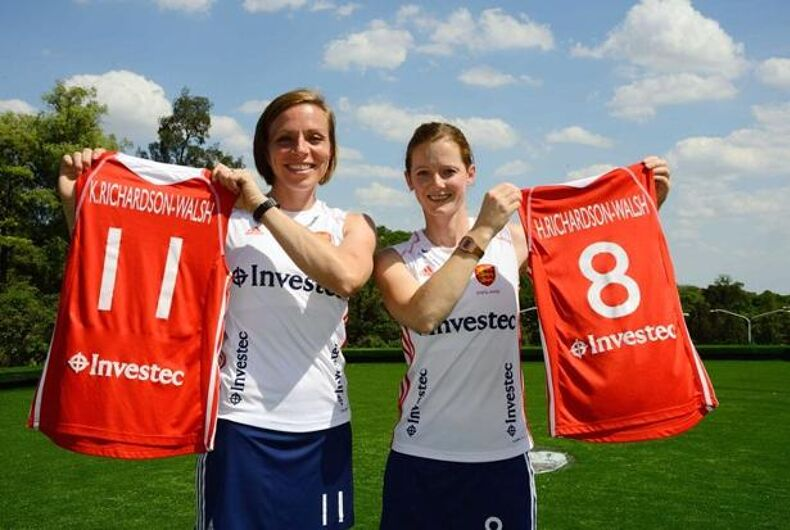 Lesbian Brits become first married couple to play for same Olympic team
