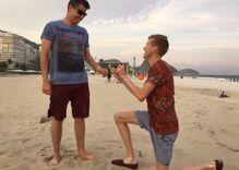 Gay Olympian Tom Bosworth asks boyfriend to marry him on beach in Rio