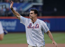 Gay baseball player Billy Bean throws first pitch at Mets Pride Night