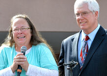 Man denied marriage license by Kim Davis says he hopes she wins reelection