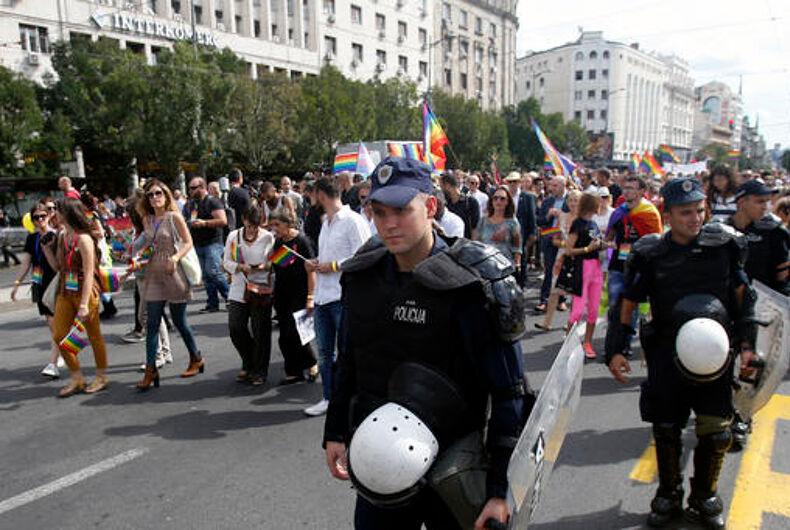 Serbian police cordon off central Belgrade to protect pride march