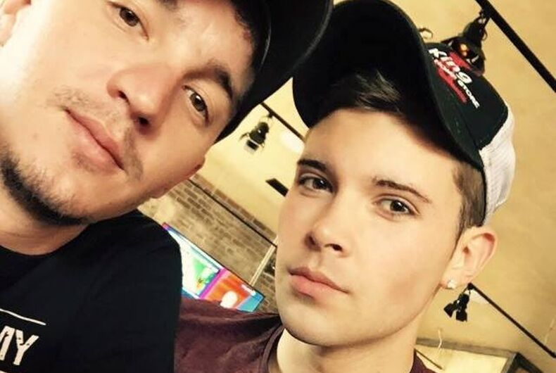 Gay couple facing death threats after video at Trump rally goes viral