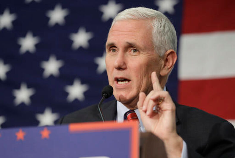 Mike Pence on the campaign trail