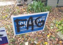 Gay Iowa political candidate's home vandalized with antigay slur