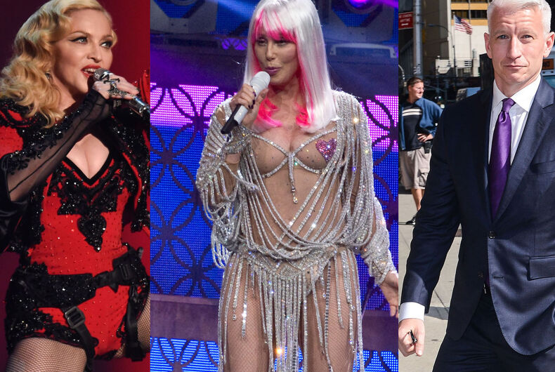Fund the Stonewall monument by raiding the closets of Madonna Cher and Anderson