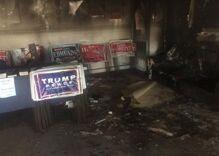 North Carolina GOP office firebombed, spraypainted with Nazi graffiti