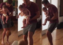Soccer star Robbie Rogers teaching his son Caleb to kick will give you the awws