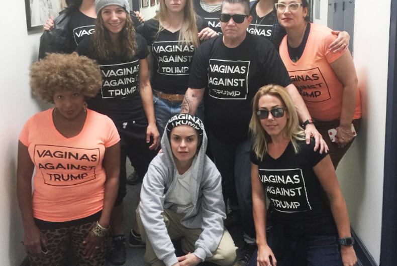 'Orange is the New Black' cast and crew show off new anti-Trump shirt