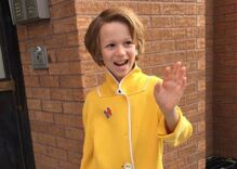 Eight year old dressed as Hillary for Halloween targeted with homophobic abuse