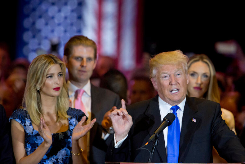 Donald Trump was confused by gay male 'Apprentice' not wanting Ivanka