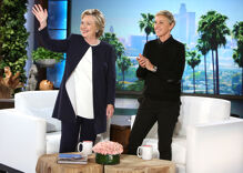 Watch: Clinton talks Trump, dances with Ken Bone on 'The Ellen Show'