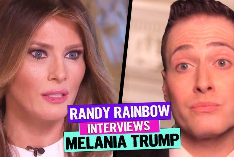 Randy Rainbow Melania Trump