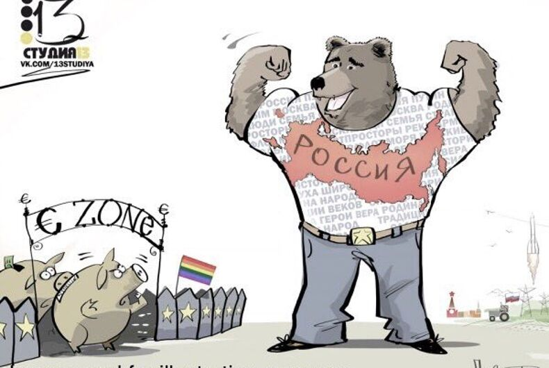 Russia taunts European Union members as gay pigs in offensive cartoon