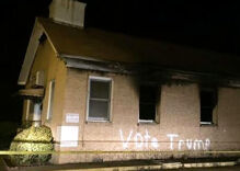 Mississippi black church torched and vandalized with 'Vote Trump' slogan