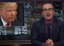 John Oliver: don't give President Donald Trump a chance, rebel and fight