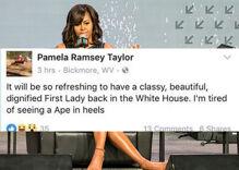 West Virginia town reels after 'Ape in heels' racist rant against Michelle Obama