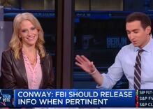 Trump campaign manager Kellyanne Conway won't talk about his child rape charges