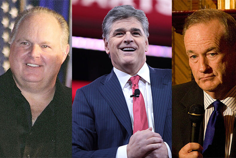 Christians most influenced this election season by Limbaugh, Hannity, O'Reilly