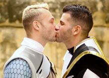 Watch: A mighty morphing marriage proposal for these gay Power Rangers