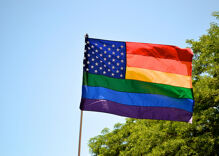 Michigan neighbors fly rainbow flags to drown out the hate
