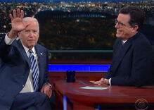 Joe Biden comes clean to Colbert: 'no plans' to run in 2020 (but he still might)