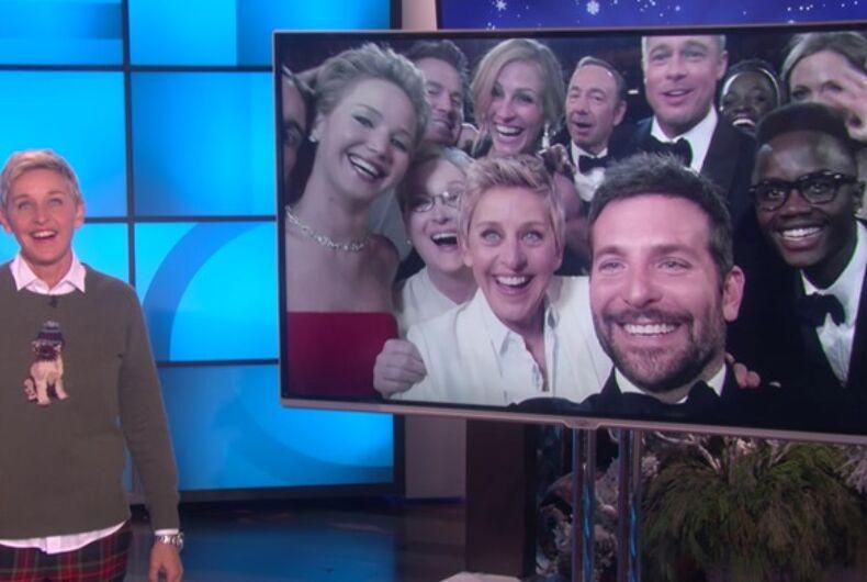 Ellen DeGeneres' Oscar selfie named one of 100 greatest photos of all time