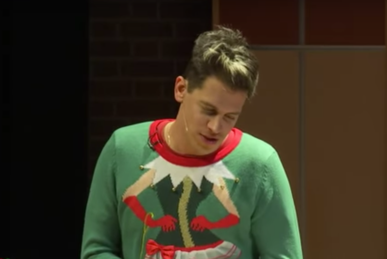 Milo Yiannopoulos continues harassment of transgender student on tour