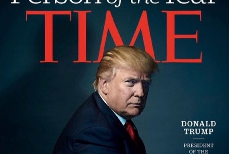 Time Magazine names Donald Trump 'Person of the Year'