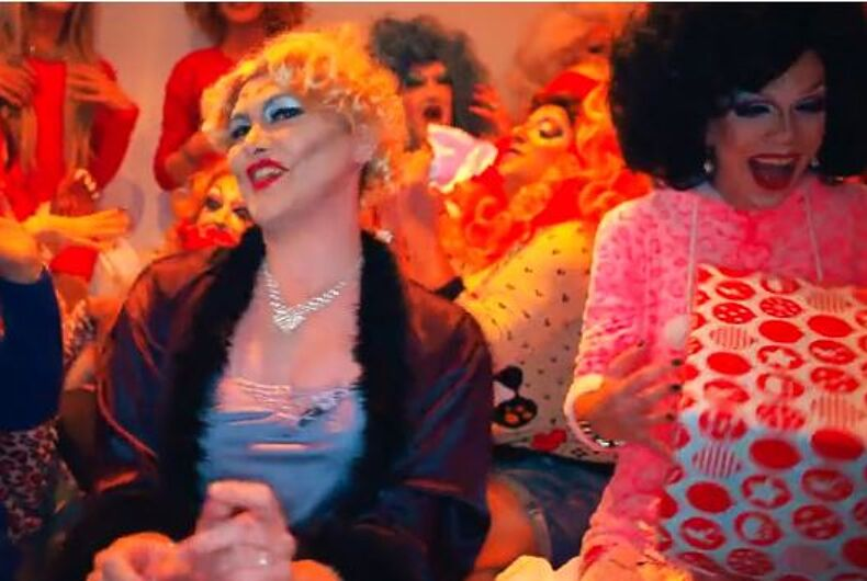 100 drag queens have a gay old time taking on favorite Christmas songs