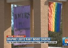 Emboldened by Trump victory, man storms into LGBTQ affirming church to spew hate