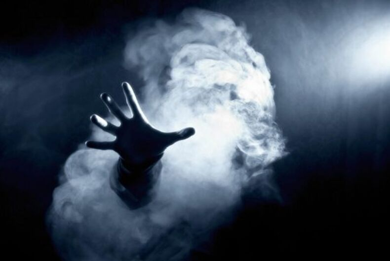 85% of gay people are possessed by ghosts according to 'spiritual research'