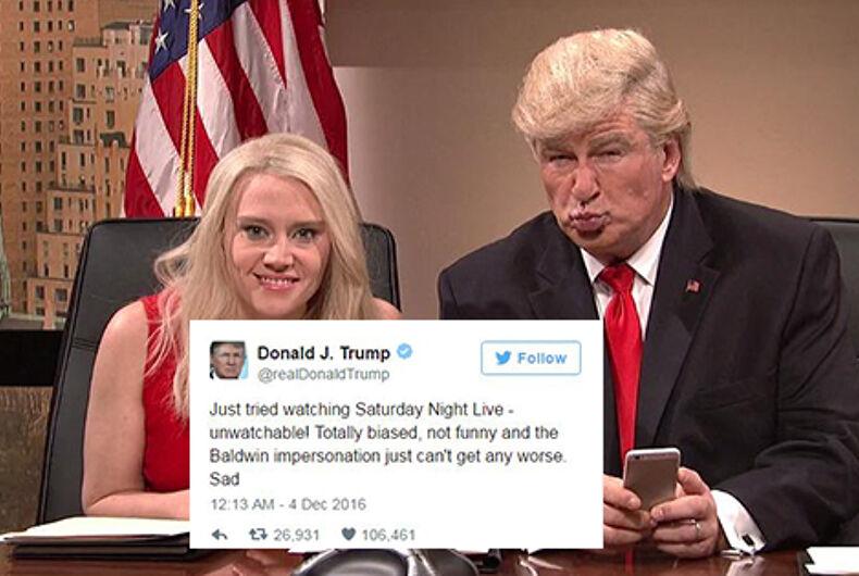 Trump Baldwin SNL tweet