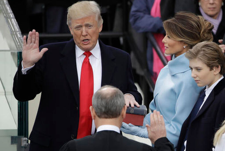 Trump has been sworn in as America's 45th President