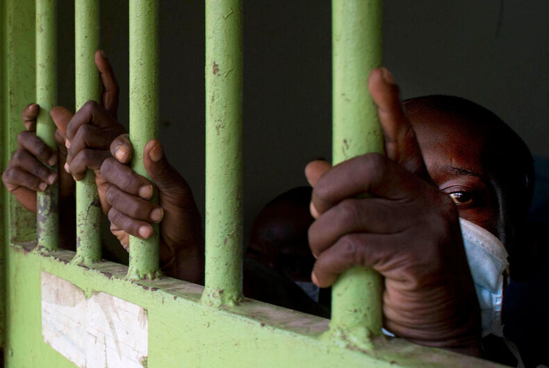 Two men jailed for being gay in a country with no sodomy laws