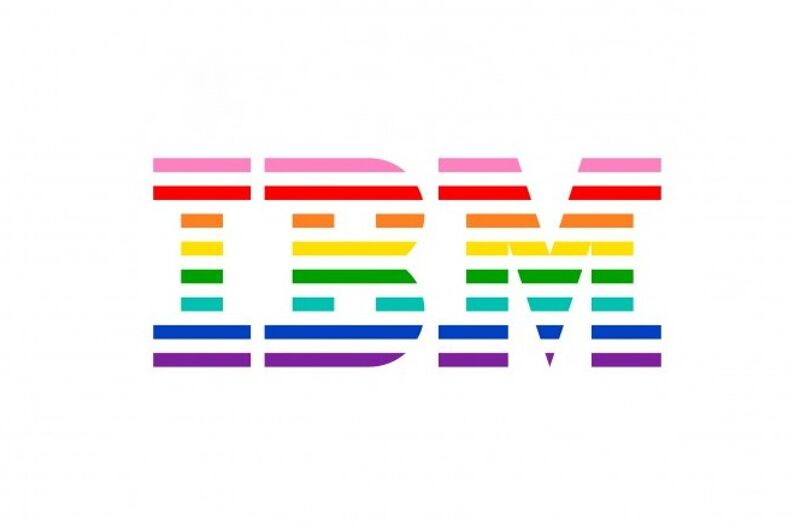 IBM rainbow logo