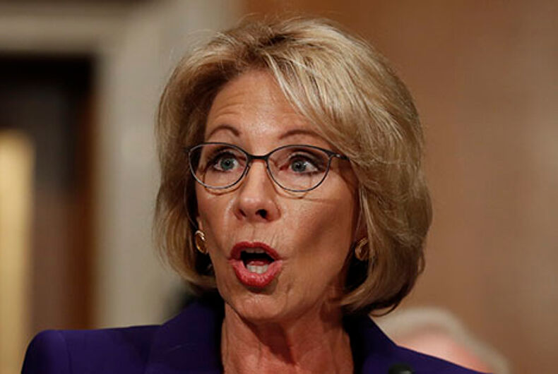 Betsy DeVos and Jeff Sessions fighting over transgender guidelines