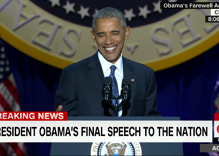 President Obama bids farewell to the nation, with a nod to the LGBTQ community