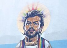 New large public mural honors queer icon 'Saint George Michael'