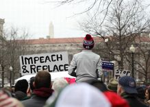 Scenes of the Donald Trump inauguration, from supporters to protesters