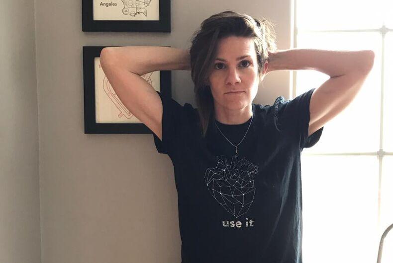 Cameron Esposito turns transphobic Huckabee tweet into cash for Trans Lifeline