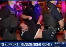 Police caught on tape tasing & arresting marcher at transgender rights protest