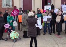 Protesters block Education Secretary Betsy DeVos from entering public school
