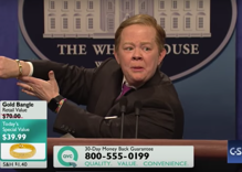 Watch: Sean Spicer plays with dolls, models high heels in 'SNL' cold open