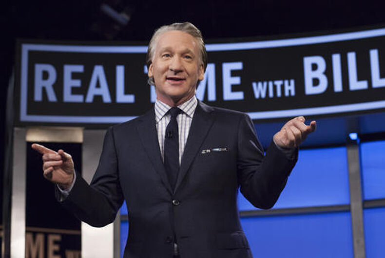 This April 8, 2016 photo released by HBO shows Bill Maher, host of