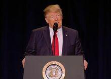 Trump praises 'religious freedom' at National Prayer Breakfast speech