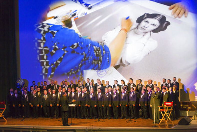 LA Gay Men's Chorus performs 'True Colors' in memory of Carrie Fisher