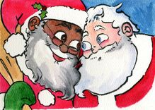 Santa is a black man married to a white guy in new children's book