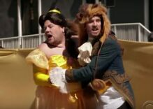 James Corden is Belle in hilarious crosswalk production of 'Beauty and the Beast'