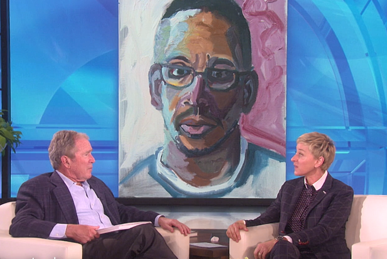 Watch George W. Bush talk to Ellen & throw shade about Donald Trump