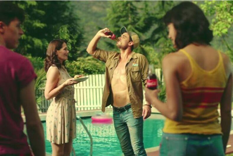 Coke pool boy commercial